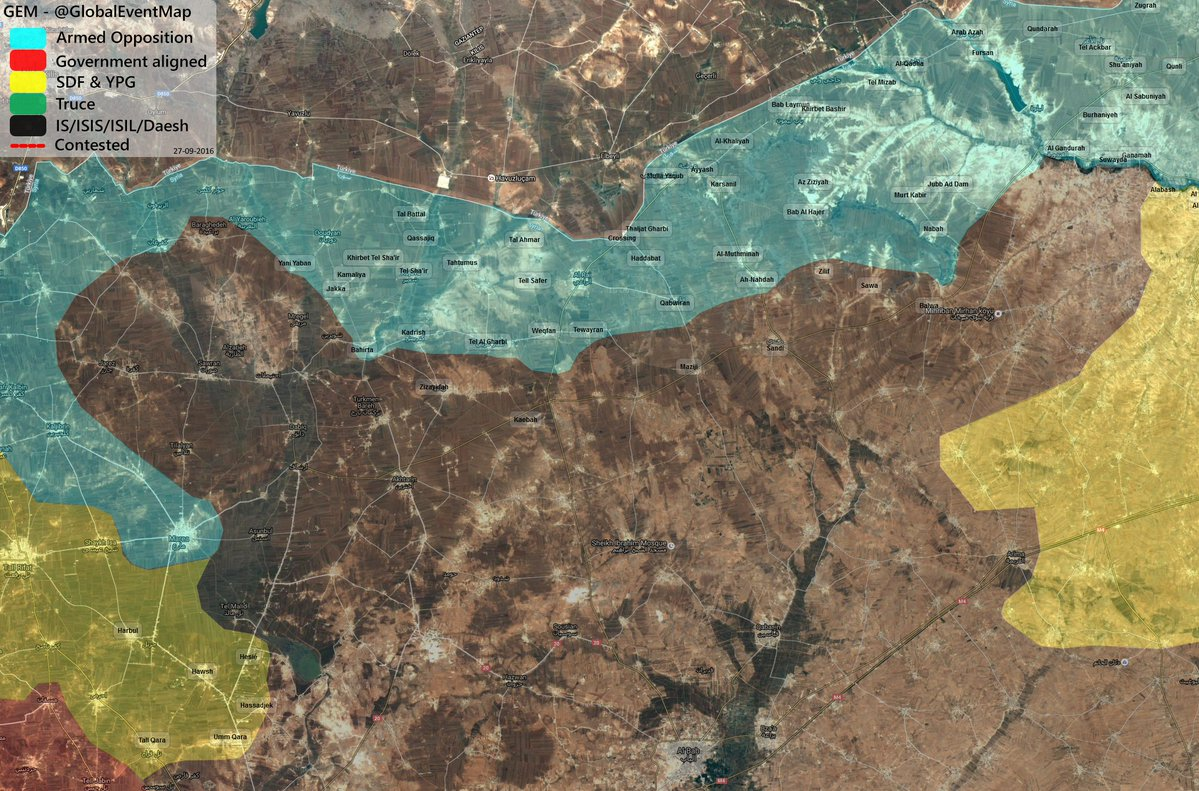 Turkish-backed Militants Regain Areas in Northern Aleppo from ISIS