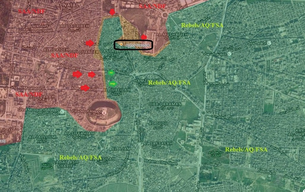 Overvew of Military Situation in Aleppo City on September 28