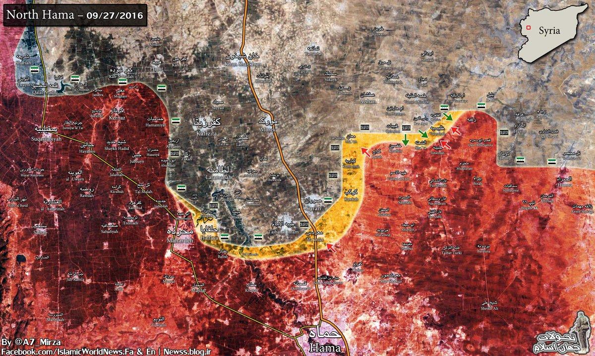 Government Forces Counter Attack on Al-Nusra, Jund al-Aqsa & Co in Northern Hama