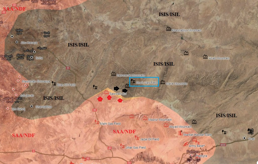 Map Update: Syrian Army's Advance on ISIS in Homs