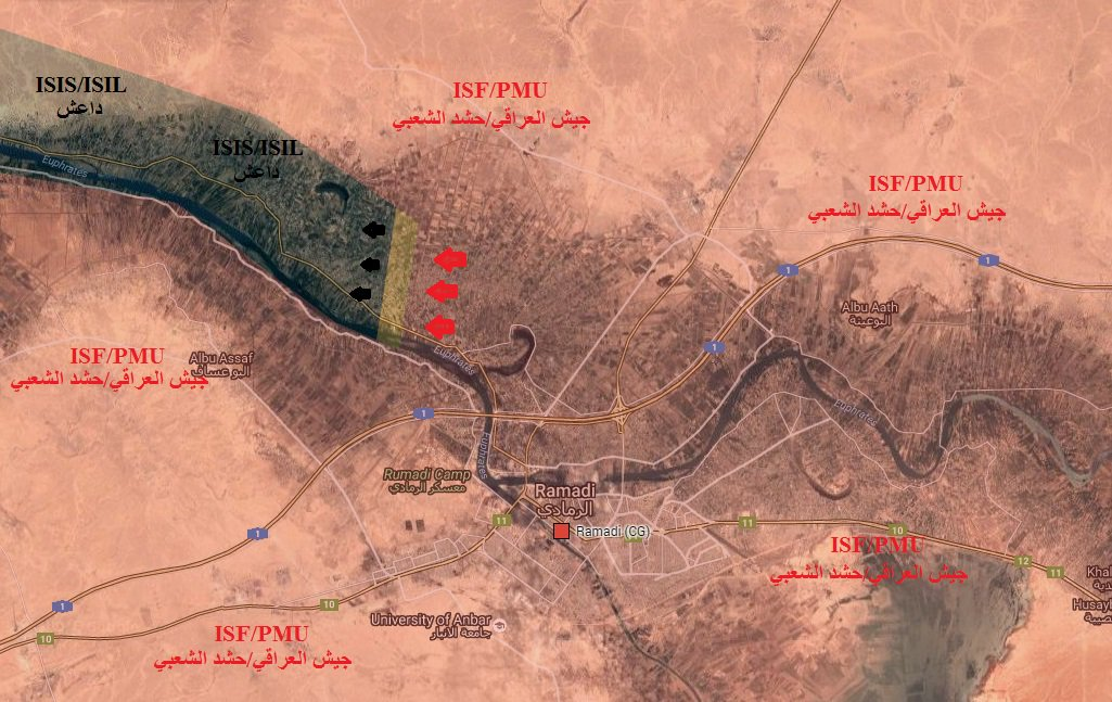 Iraqi Army & PMU Advancing on ISIS Northwest of Ramadi