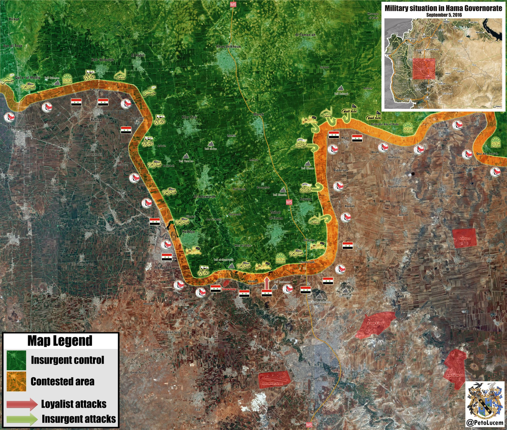 Overview of Military Situation in Syria on September 6