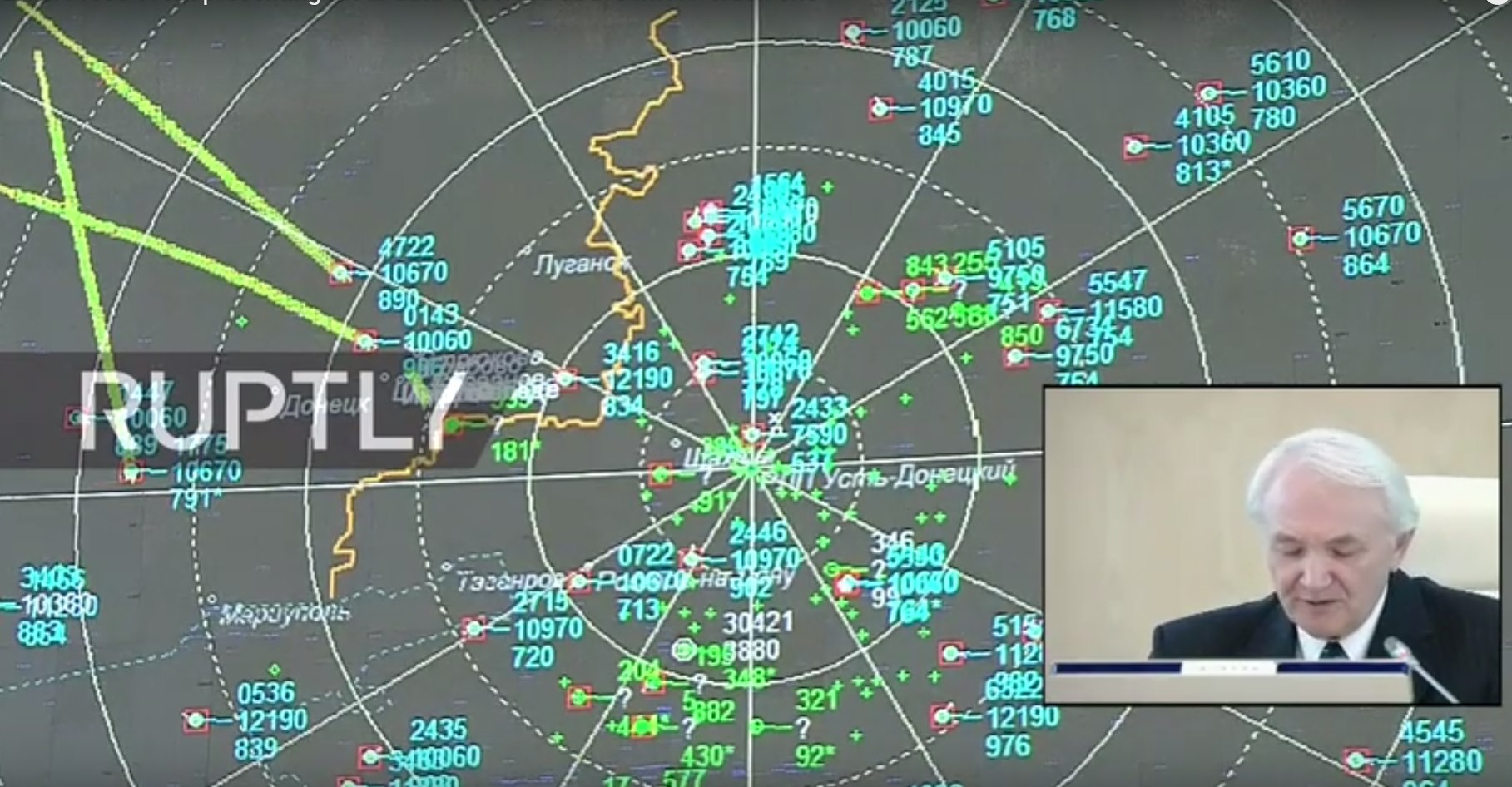 Russia Says Radar Data Shows No Missile Attack on MH17 from Rebel Side