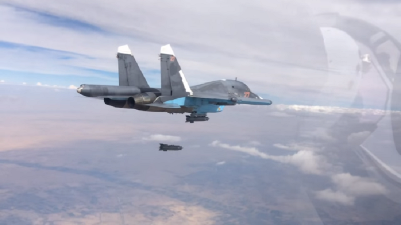 Russian Warplanes Pounded ISIS Positions In Western Deir Ezzor