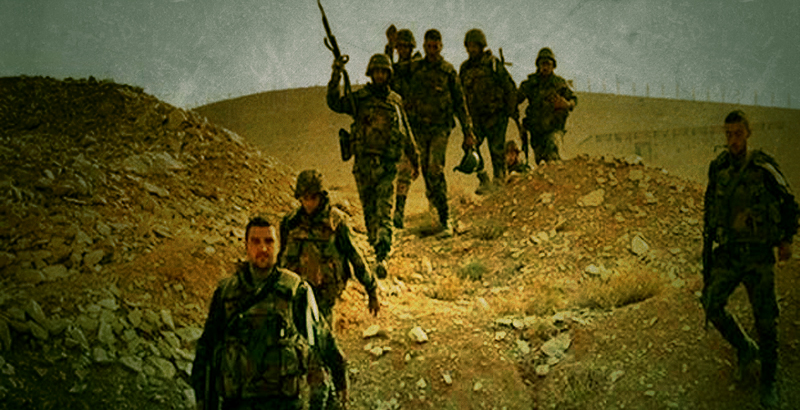 Syrian Army Clashing with ISIS in Northeastern Homs