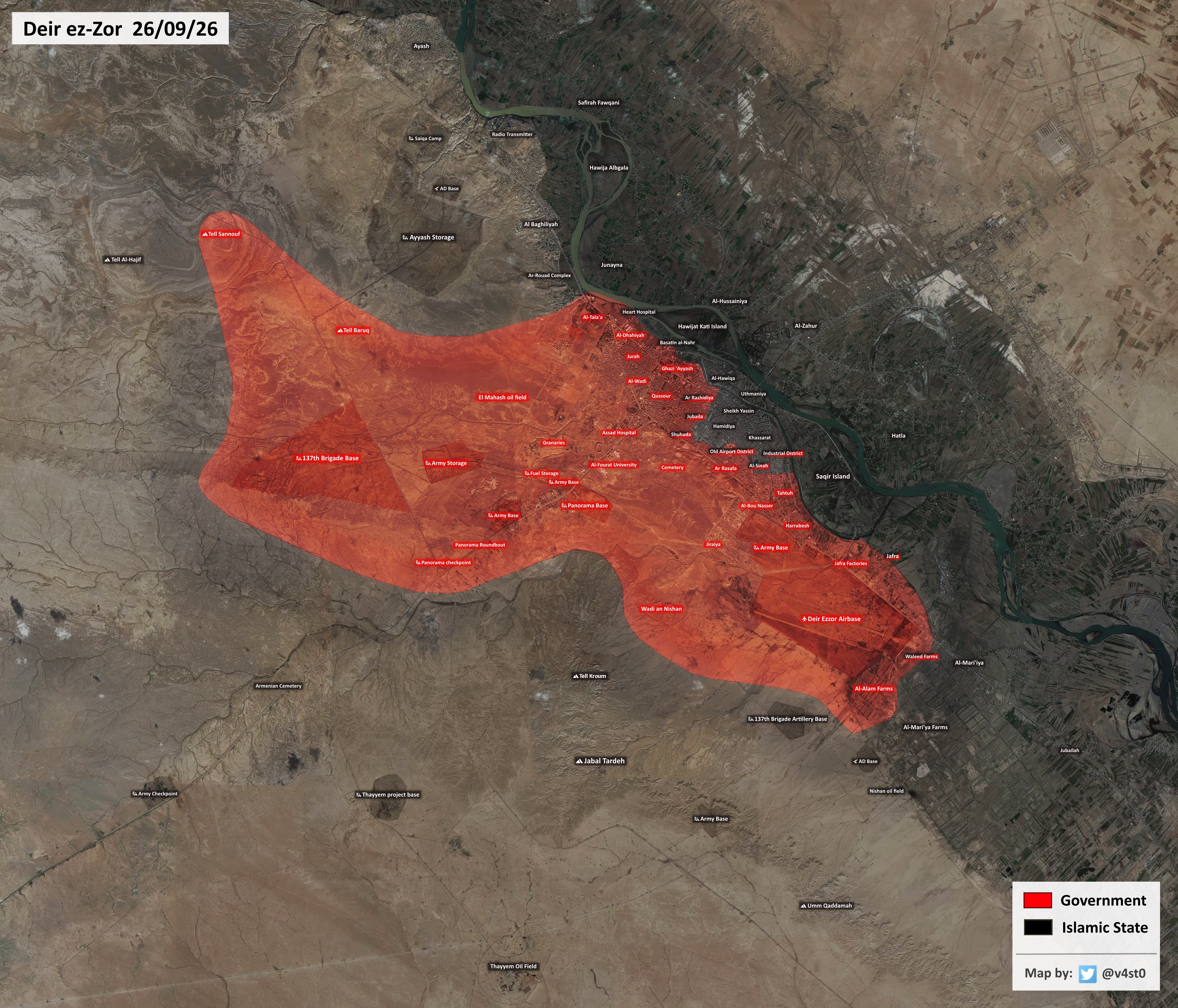Syrian Army and ISIS Clashing for Deir Ezzor's Industrial District