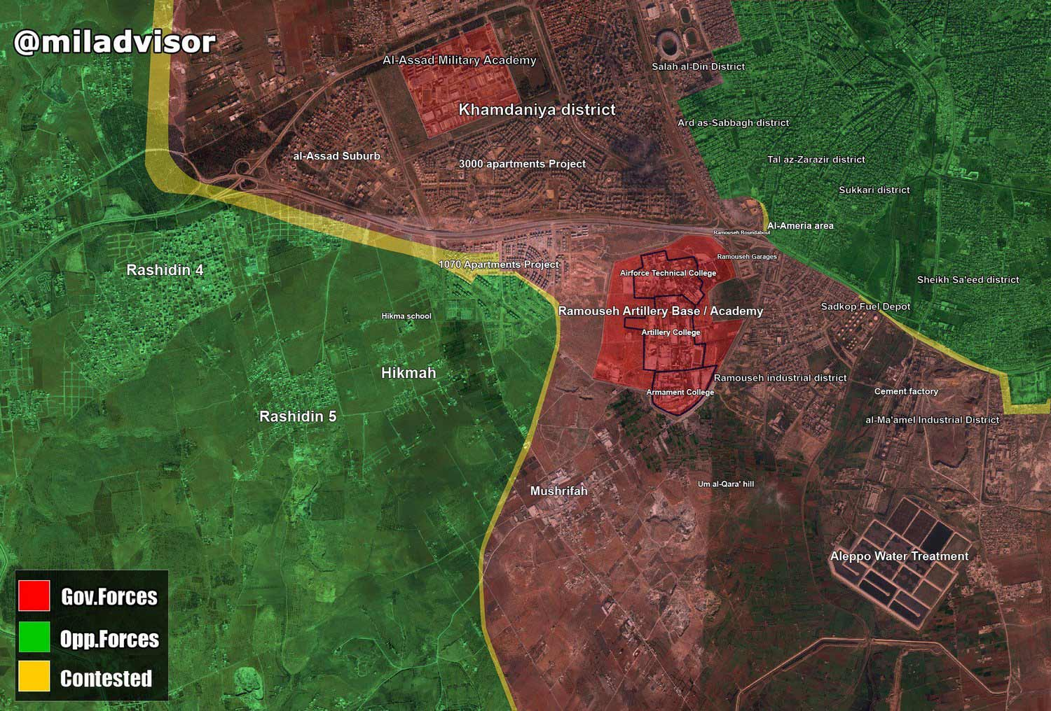 Overview of Clashes in Aleppo Province on September 20-21