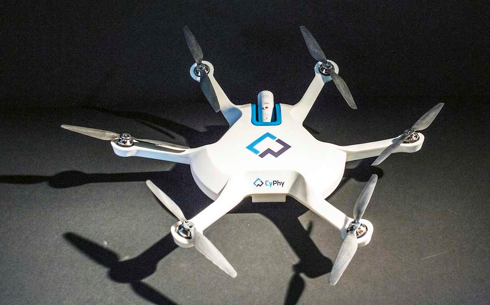 The LVL1 from CyPhy Works, uses unique Level-Up Technology for stable, level flight. Photo: directionsmag.com