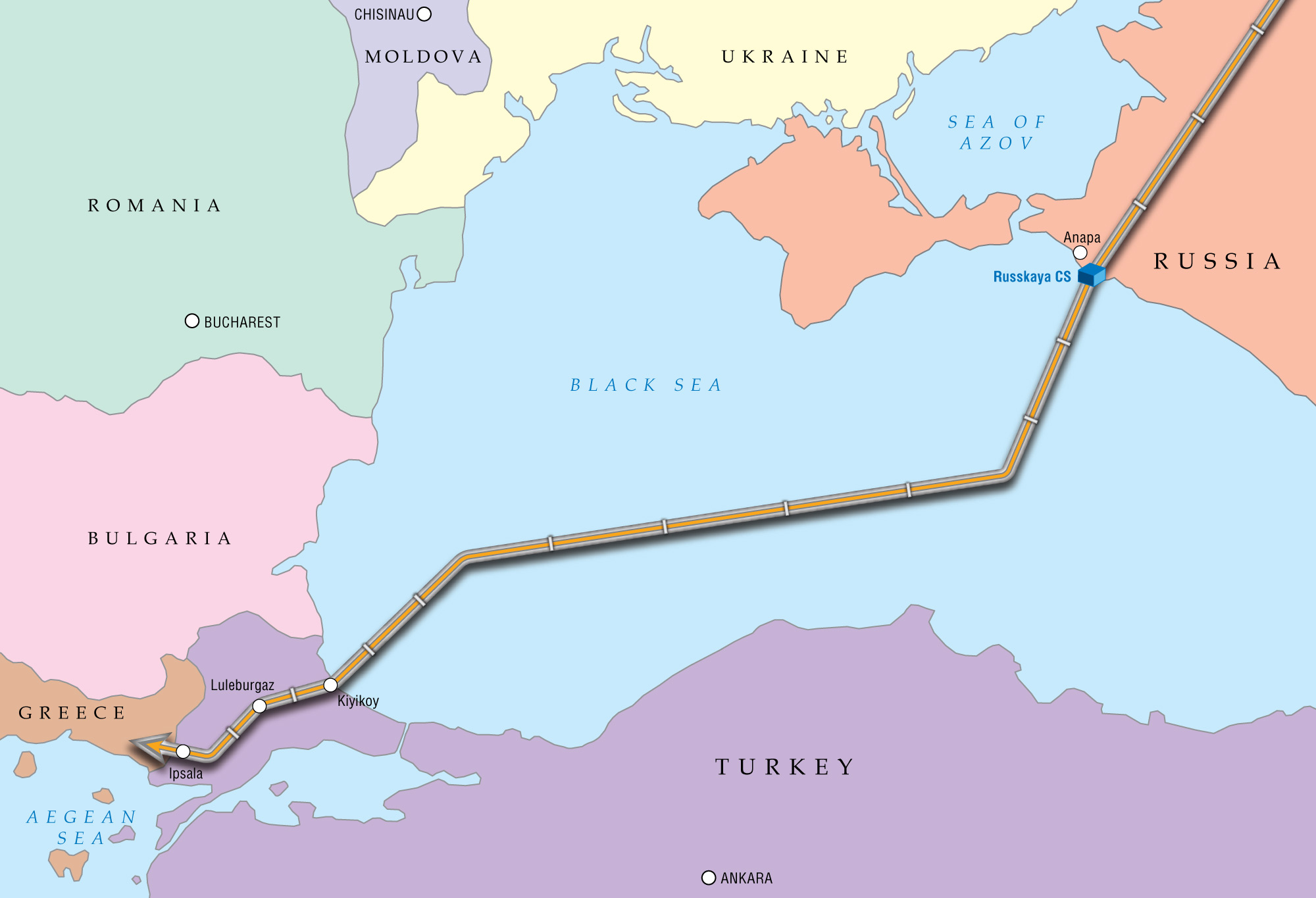 Russia's Gazprom Receives License from Turkey to Build Under Water of Turkish Stream