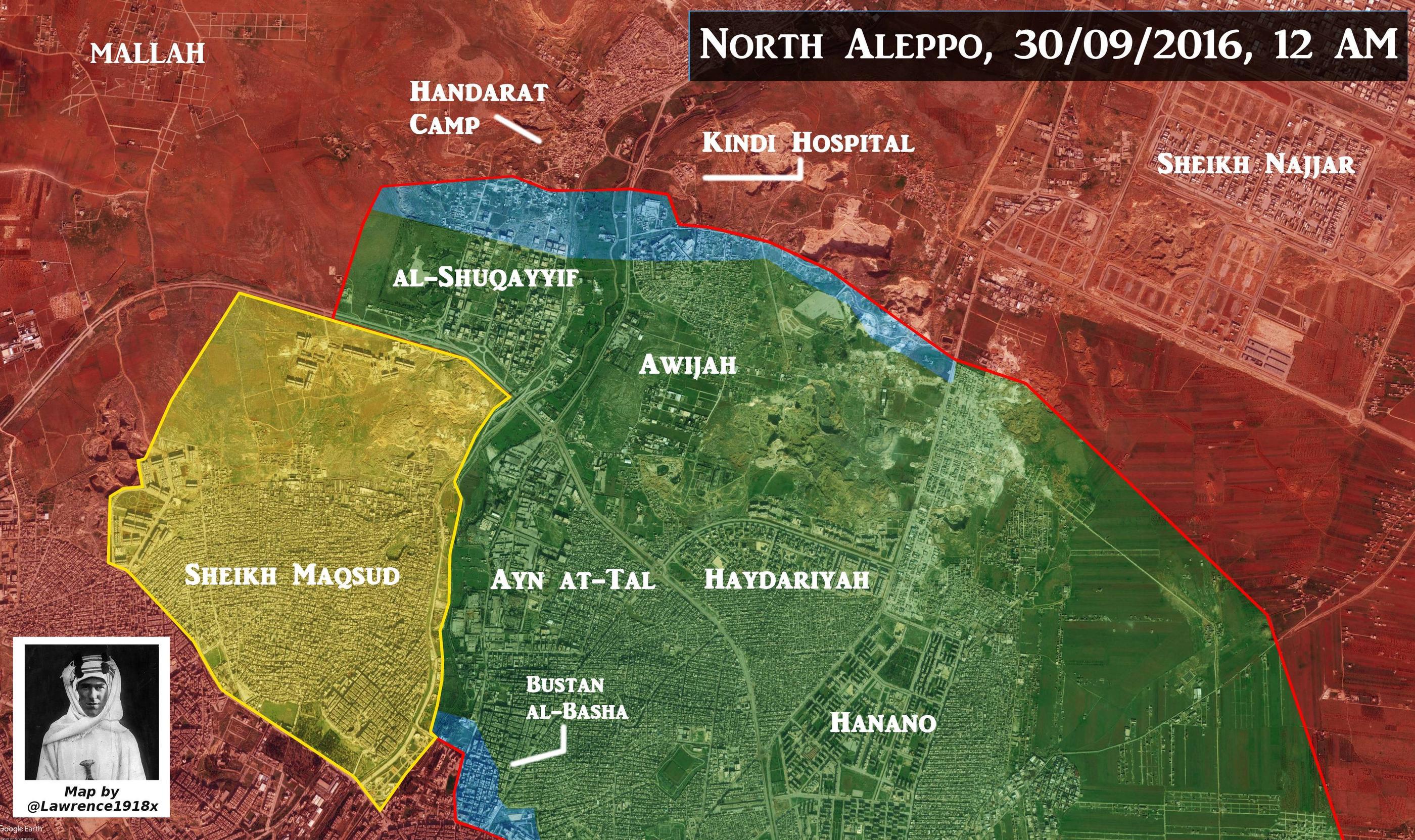 Govt.Forces Advancing in Bustan al Basha & Suleiman al-Halabi Neighborhoods of Aleppo
