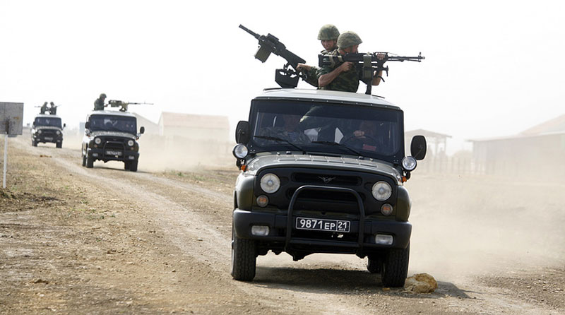 Russian Army Uses War Chariots Based on UAZ Patriot in Syria