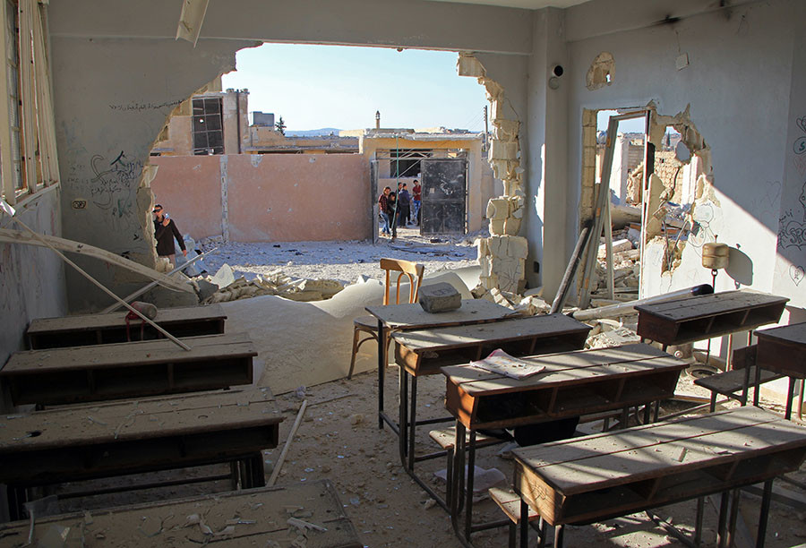 Air Attack on School in Idlib Raises New Wave of Competing Accusations