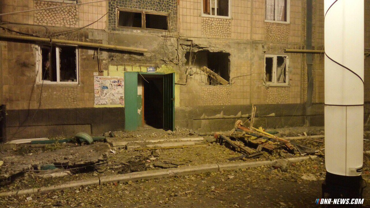 Ukrainian Army shells DPR's town: 2 killed, 7 wounded (Photo & Video)