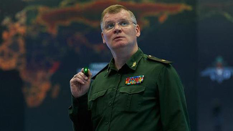 Russia's Defense Ministry spokesman Major General Igor Konashenkov