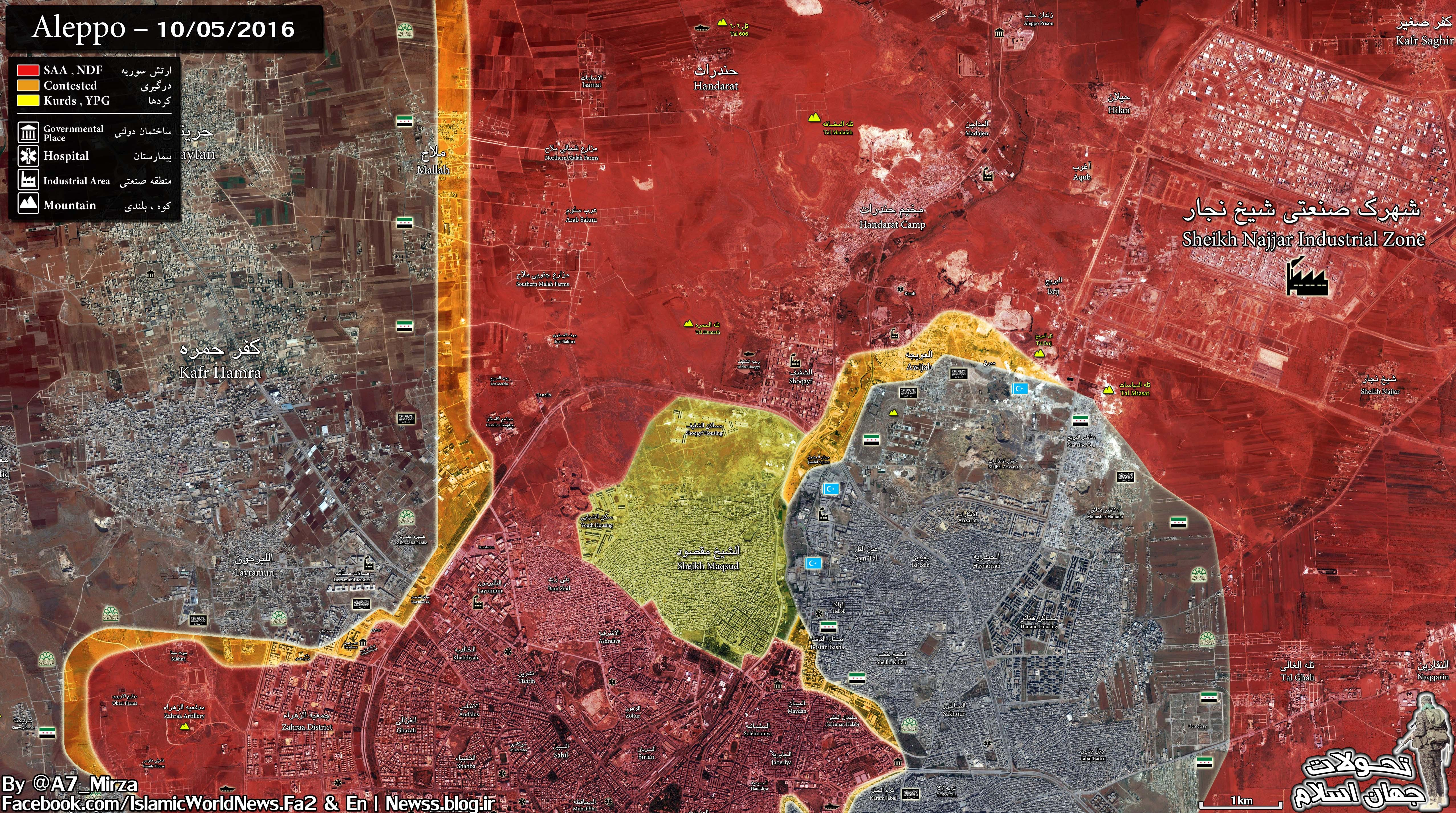 Overview of Military Situation in Aleppo City, October 6, 2016