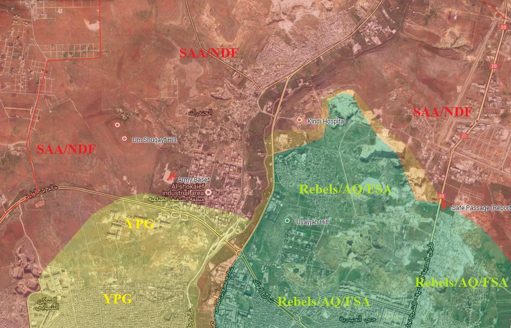 Kurdish YPG Takes Advantage of Syrian Army Operations, Russian Air Raids in Aleppo City (Video)