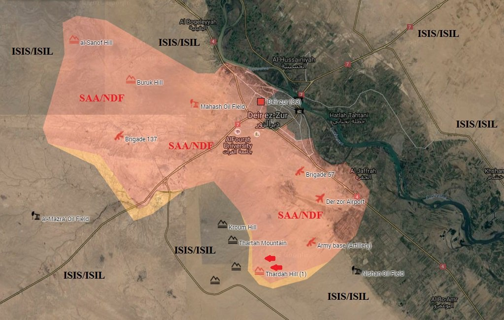 Syrian Govt Forces Advancing on ISIS in Thardah Mountain outsdie Deir Ezzor