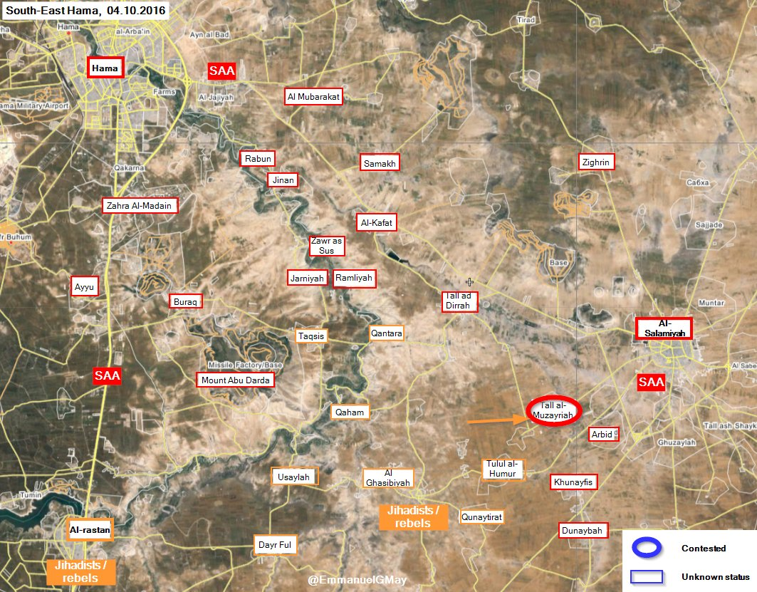 Map Update: Military Situation in Southeast Hama on September 4