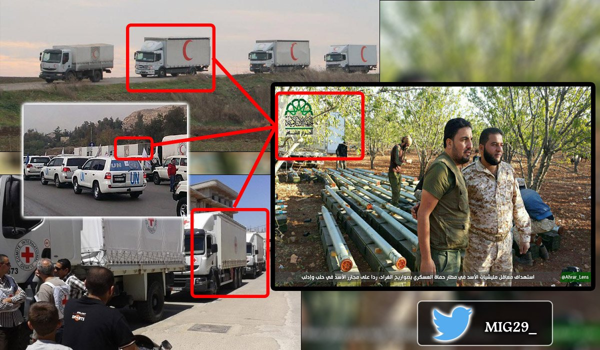 Ahrar al-Sham Shells Government Positions in Hama Military Airport with Grad Missiles (Video)