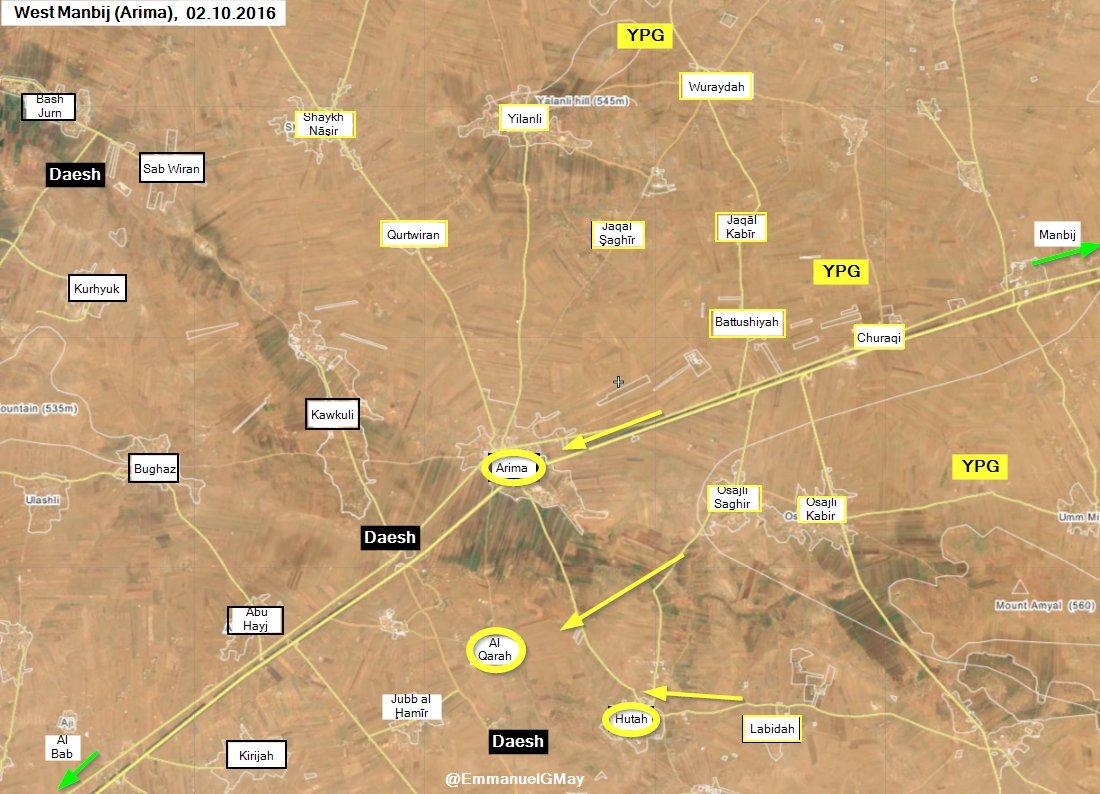 Kurdish YPG Seizes 3 Villages West of Manbij