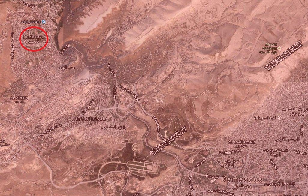 Syrian Army in Full Control of Qudsaya near Damascus