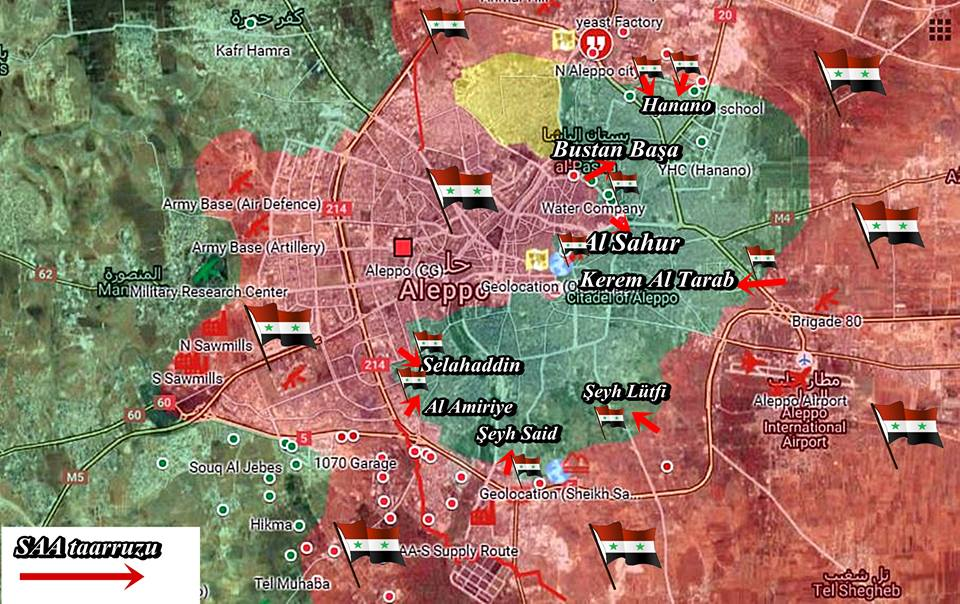 Overview of Military Situation in Aleppo City on October 18, 2016