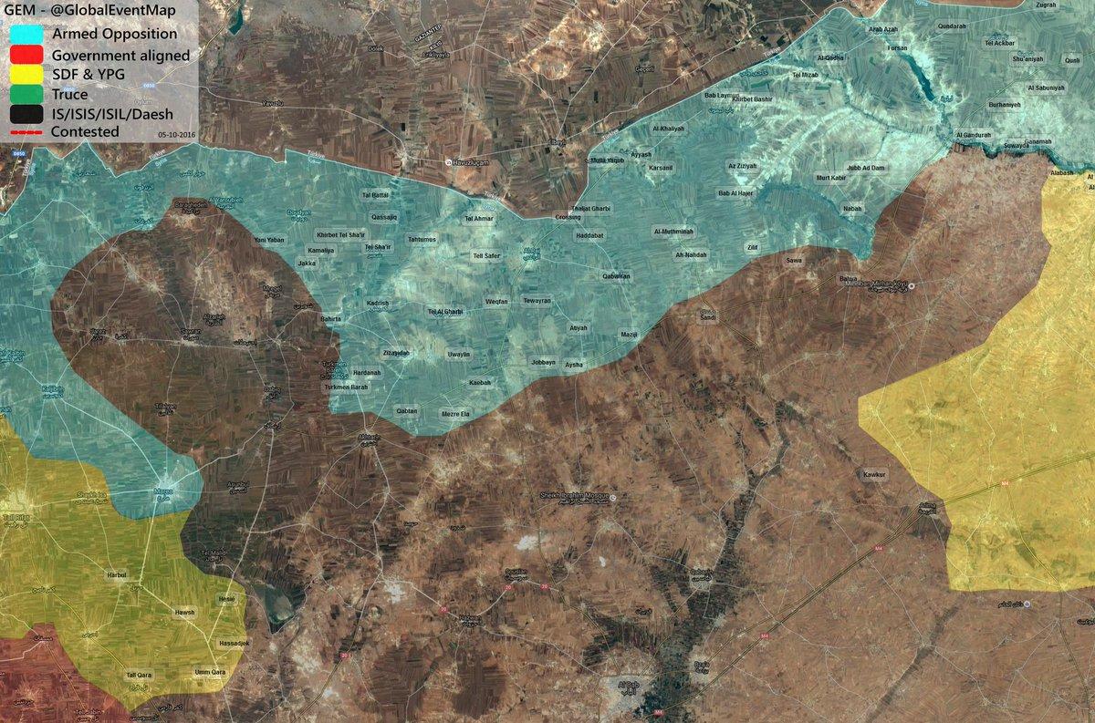 Turkish-backed Militants Seek to Encircle ISIS Units near Azaz