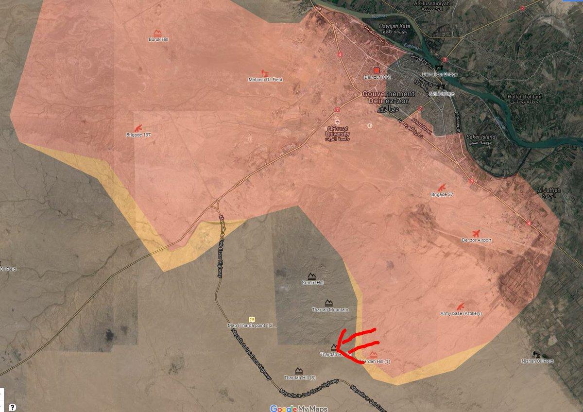 Govt Forces Advancing in Strategic Hills Southwest of Deir Ezzor