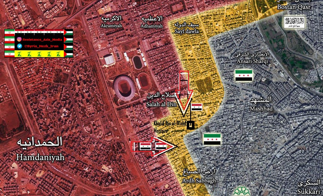 Overview of Military Situation in Aleppo City on October 7, 2016