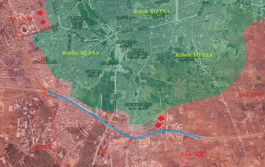 Overview of Military Situation in Aleppo City on October 8-9, 2016