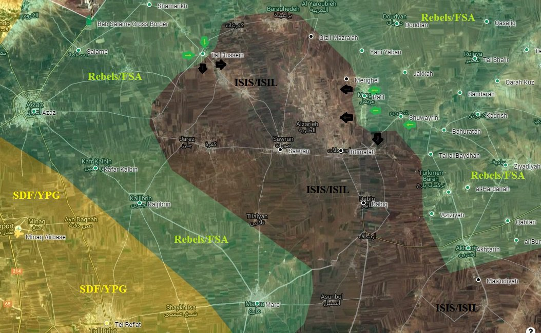 Ankara-backed Militants Seize 3 More Villages from ISIS near Azaz