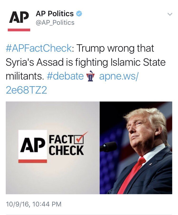 Associated Press Was Forced to Delete Propaganda Post that 'Assad Forces' Not Fighting ISIS