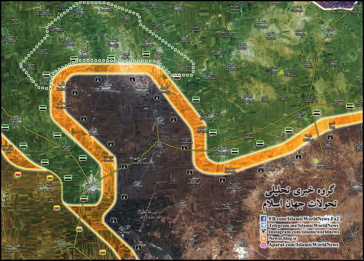 Turkish-backed Militants Gain more Areas from ISIS near Azaz, Syria