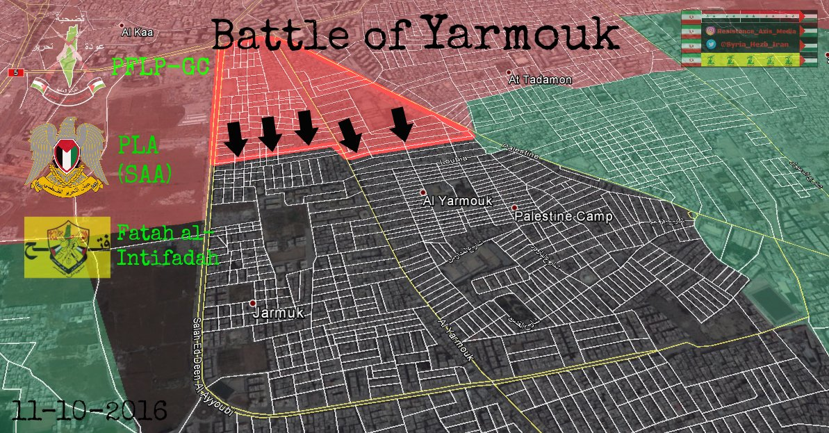 Syrian Government Forces Relaunching Battle for Strategic Yarmouk Camp near Damascus (Map)