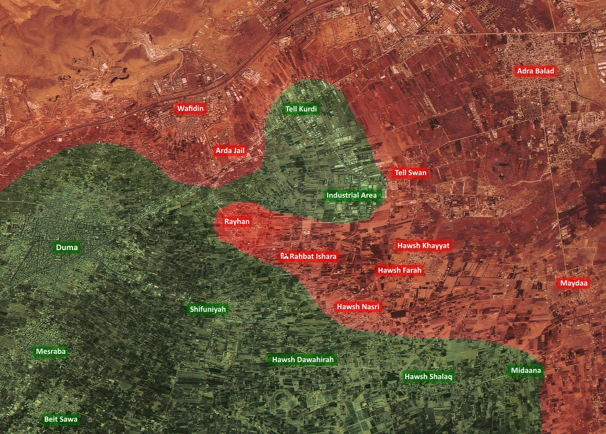 Syrian Army Encicrled Strategic Militant-controlled Town in Eastern Ghouta