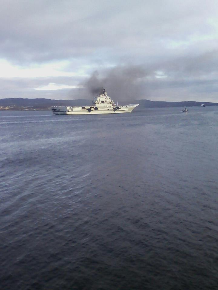 Russian Aircraft Carrier 'Admiral Kuznetsov' Is on Way to Syria - Photo