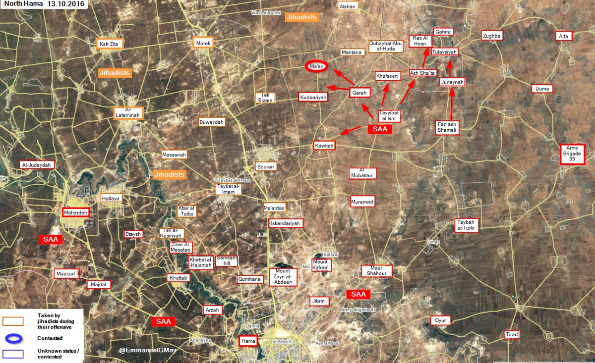 Syrian Army's Tiger Forces Re-Enters Strategic Town of Ma'an in Northerh Hama