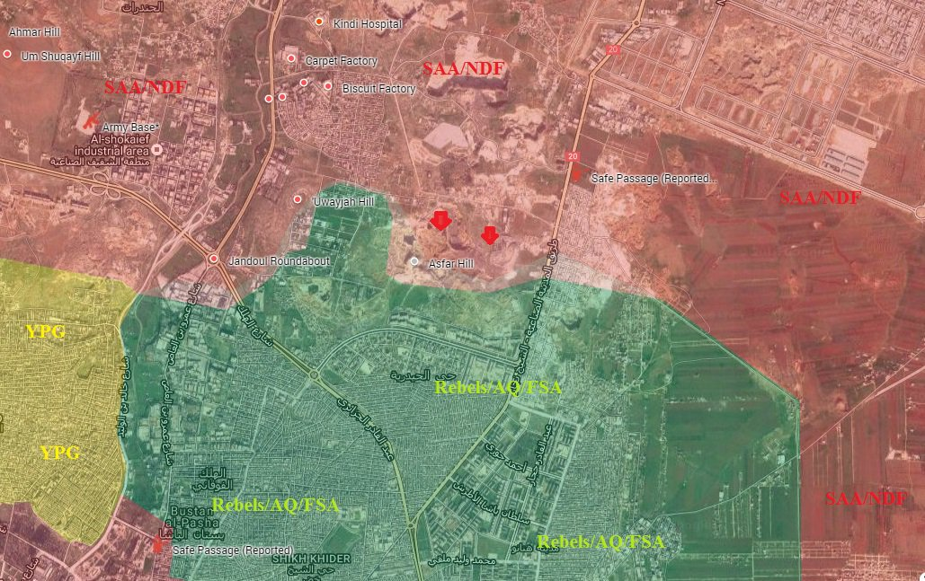 Overview of Military Situation in Aleppo City on October 13, 2016