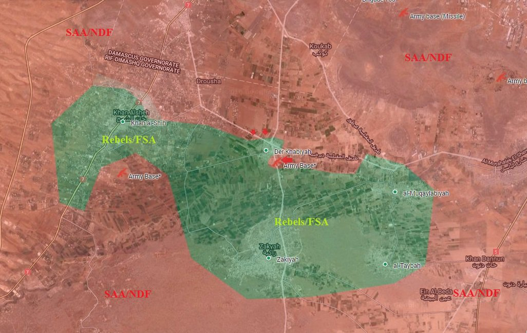Syrian Army Liberates Air Battalion Base, Prepare to Storm Der Khabiyah in Western Ghouta