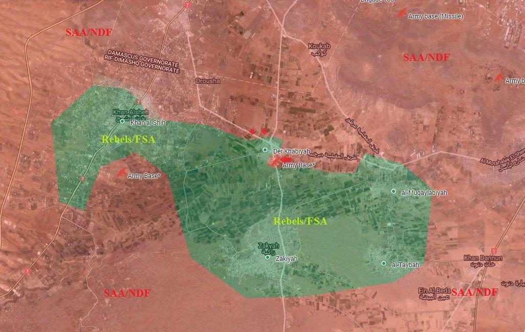 Syrian Army Liberates Air Battalion Base, Prepare to Storm Der Khabiyah in Western Ghouta