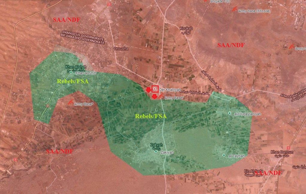 Syrian Army Takes Control of Der Khabiyah in Western Ghouta