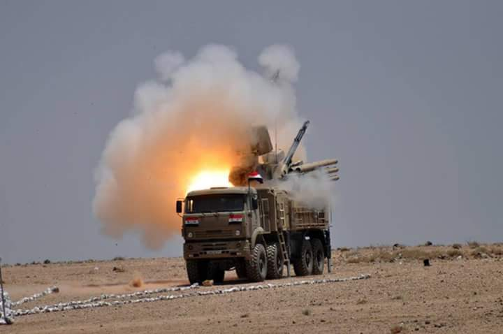 Syrian Defense Ministry Released Pics of Pantsir-S1 Air Defense System