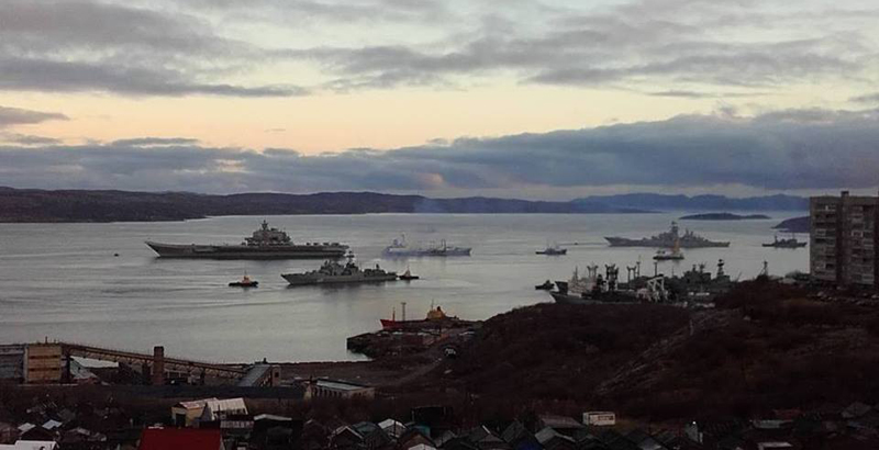 Russia's Sole Aircraft Carrier Starts Campaign in Mediterranean Sea - Officially
