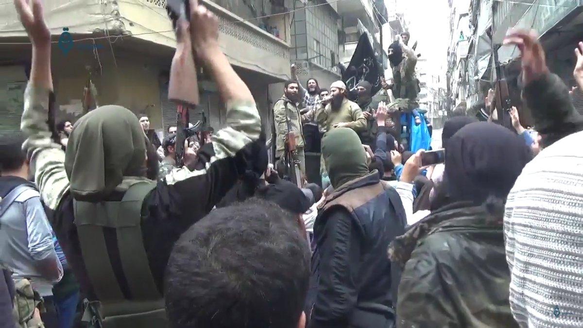 'Moderate Rebels' Besieged in Eastern Aleppo Show Their Real Face, Wave Al-Nusra (Al-Qaeda) Flags - Photos