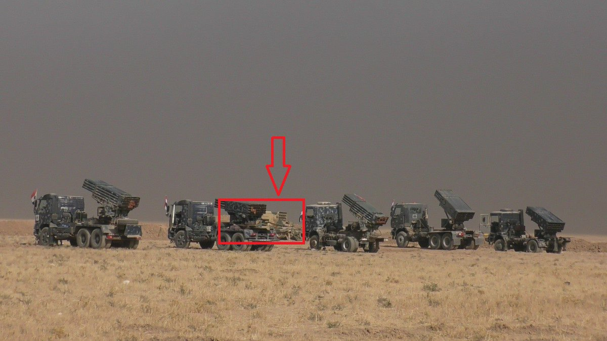 Iraqi Federal Police Uses Russian-made TOS-1A Heavy Flamethrower System against ISIS near Mosul