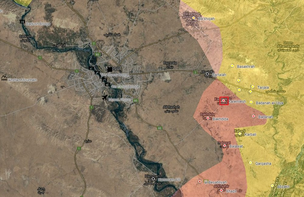 Iraqi Security Forces Liberate Karemlesh Village near Mosul