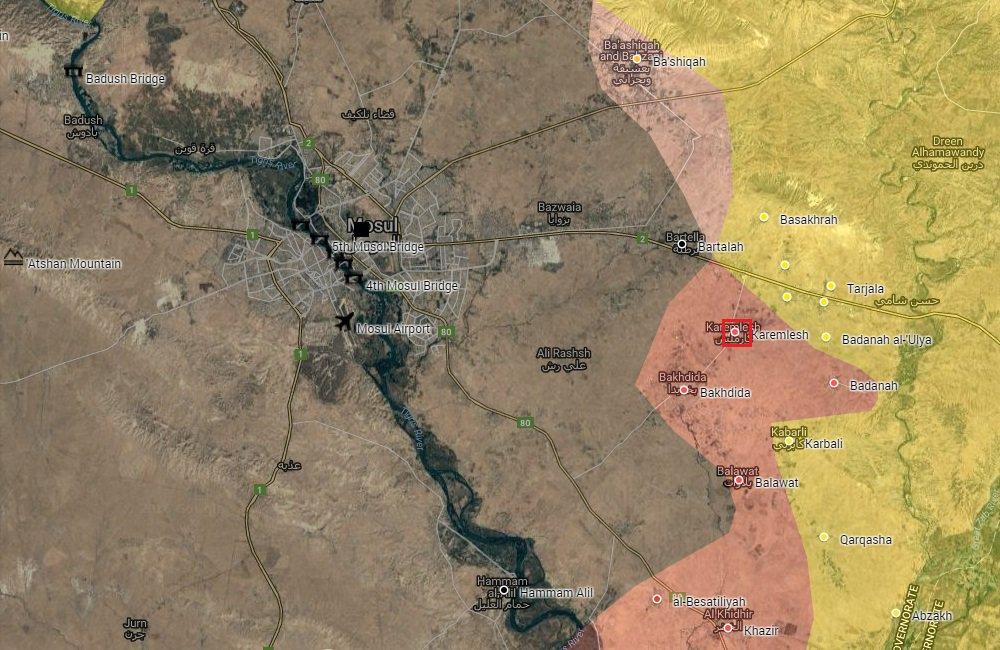 Iraqi Security Forces Liberate Karemlesh Village near Mosul