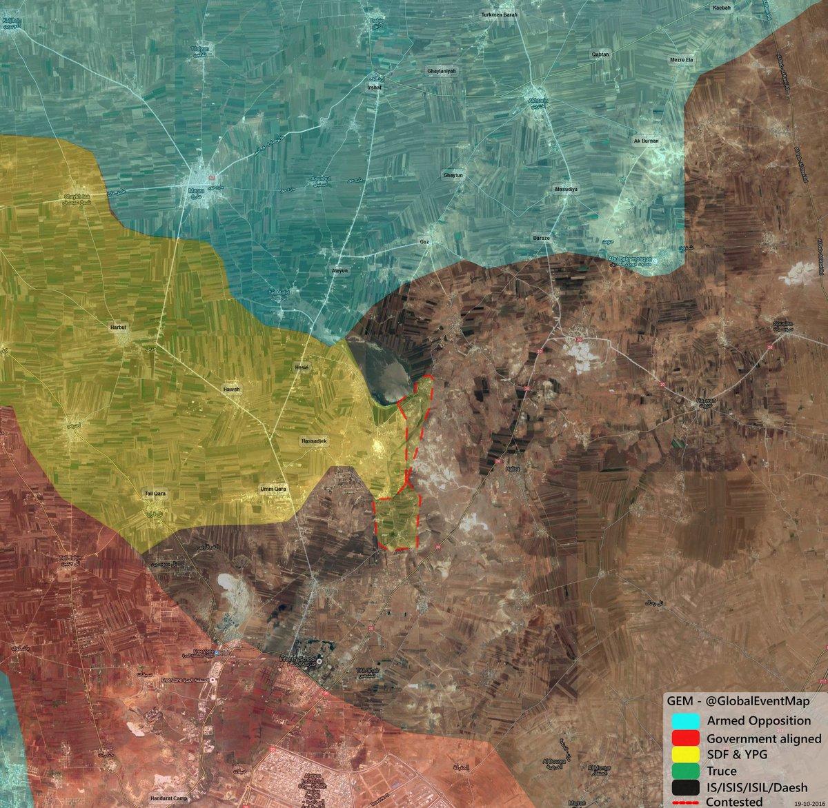 Kurdish YPG Retreating in Northern Aleppo Under Turkish Pressure