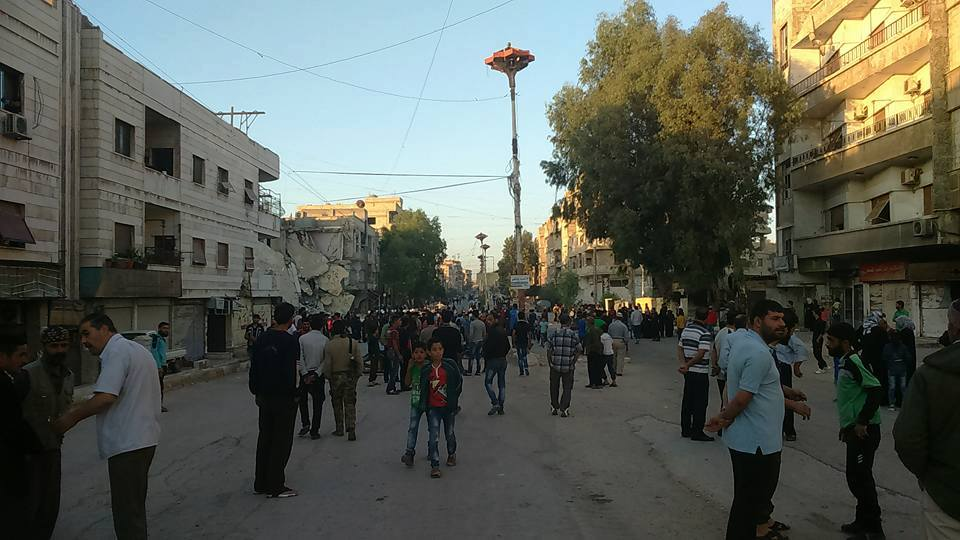 Moadamiya Is Under Government Control. Members of Free Syrian Army Are Being Transported from Damascus to Idlib (Photo & Video)