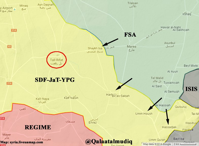 Free Syrian Army & Turkish Armed Forces Launched Full-Scale Advance on Kurdish YPG in Northern Aleppo